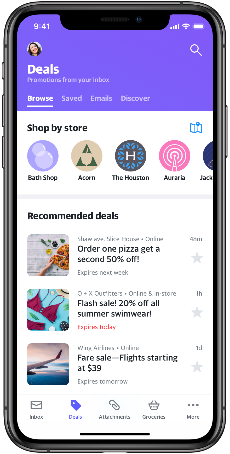 The New Yahoo Mail App Is Made For One Handed Grocery Shopping