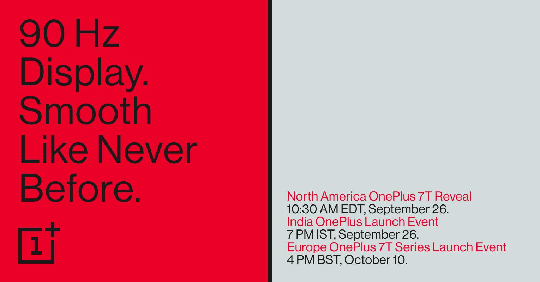 OnePlus 7T 发布会日程