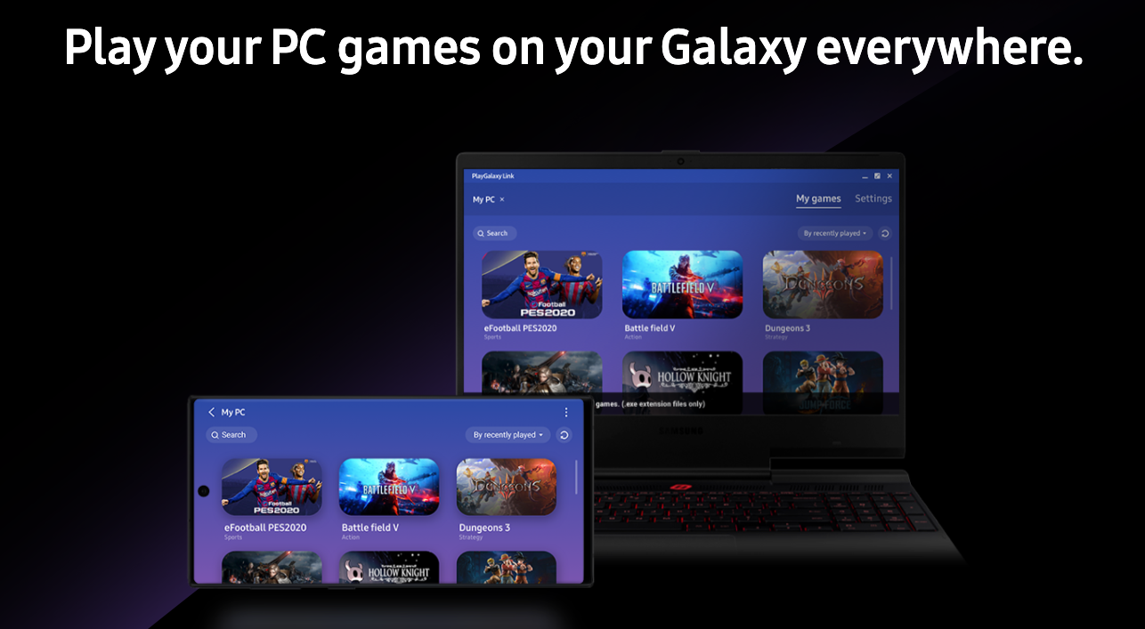 (Update: Support for more phones) Samsung's PlayGalaxy Link game streaming app is now available on Android and Windows
