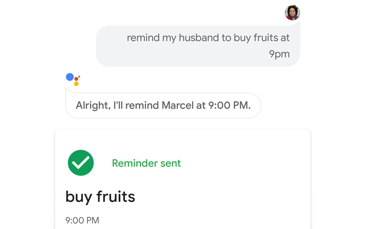 How to use assignable reminders on Google Assistant