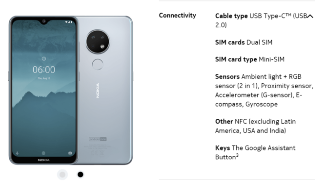 Nokia 6 2 and 7 2 won't have NFC in the US, Latin America