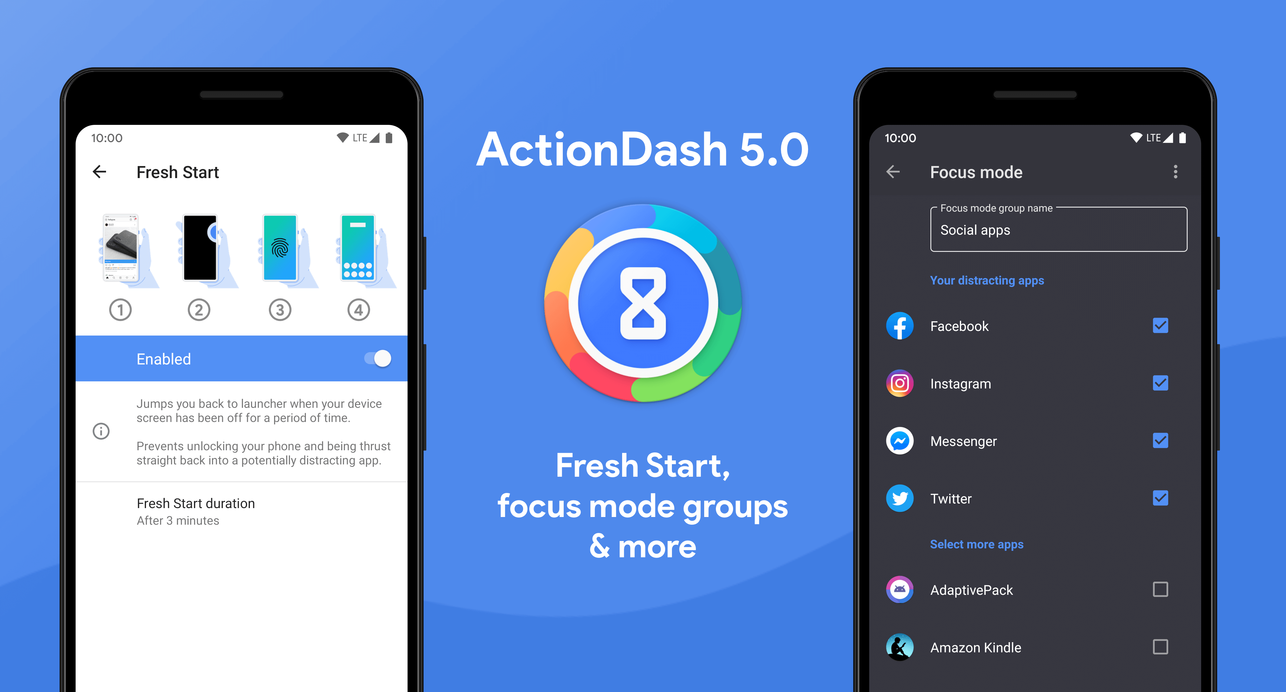 [Update: APK Download] ActionDash v5.0 update introduces Fresh Start feature and additional Focus Mode options