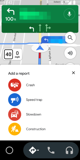 Google Maps lets you report road constructions