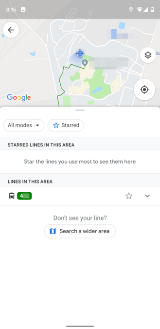 Google Maps adds quick access to your preferred transit
