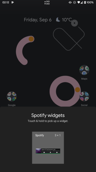Update: Back in latest beta] Spotify kills the widget in its