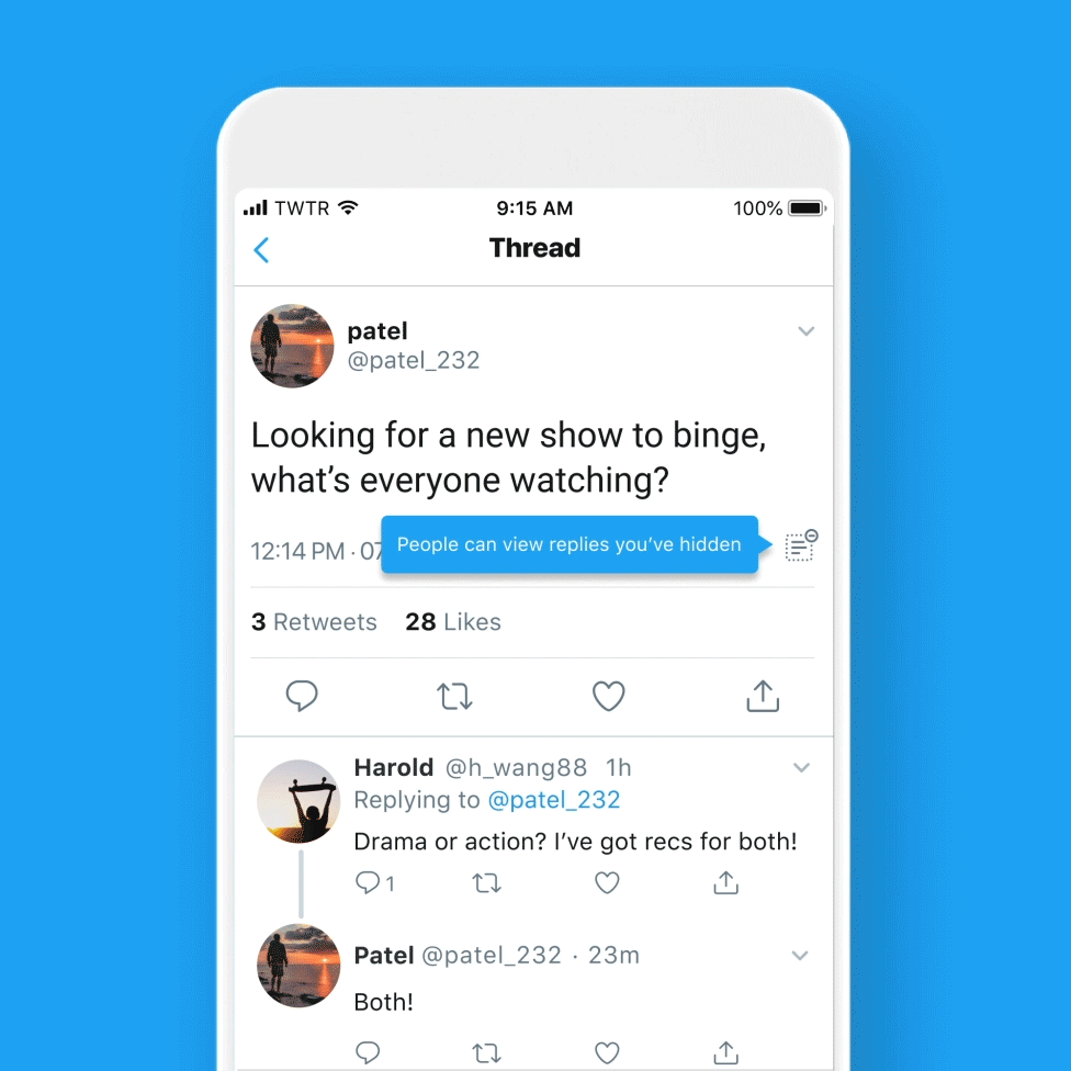 Twitter Rolls Out 'Hide Replies' Feature for All US Users