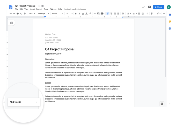 The new issue of Google Docs live words lets you know when