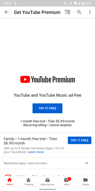 YouTube Premium and Music launch in 8 new countries in the