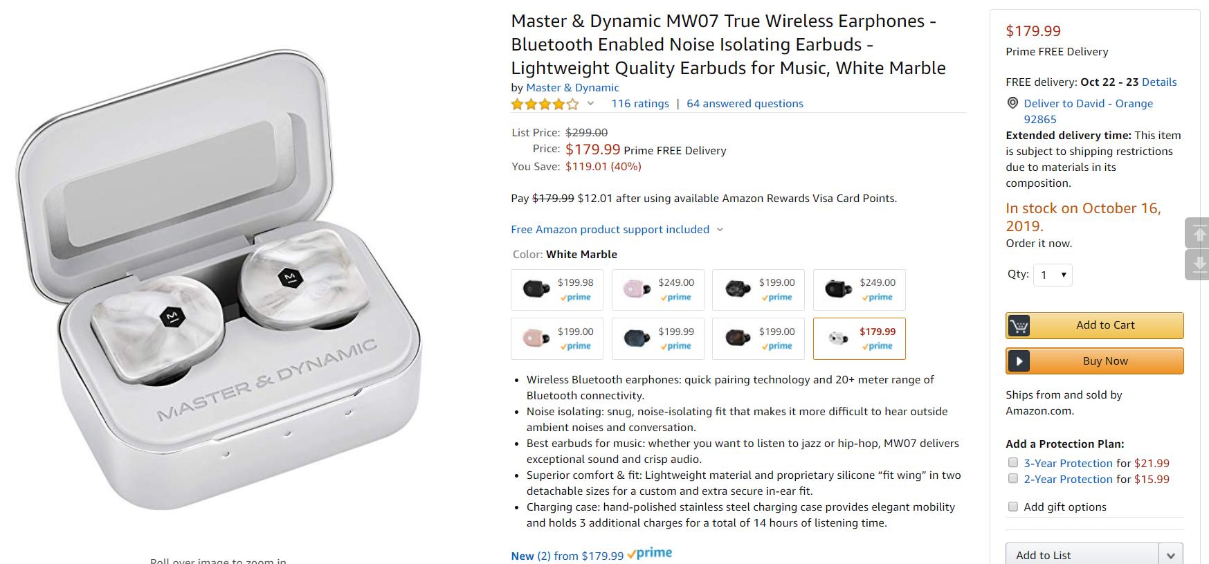 Master & Dynamic MW07 true-wireless earbuds drop as low as $180 ($50 off), Next TGP