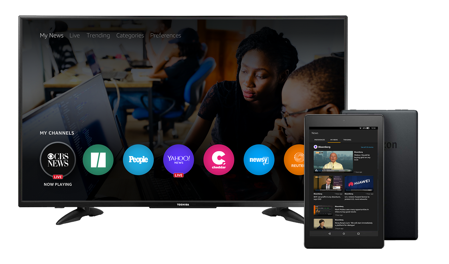 Amazon introduces Fire TV and tablet app to watch customized news snippets