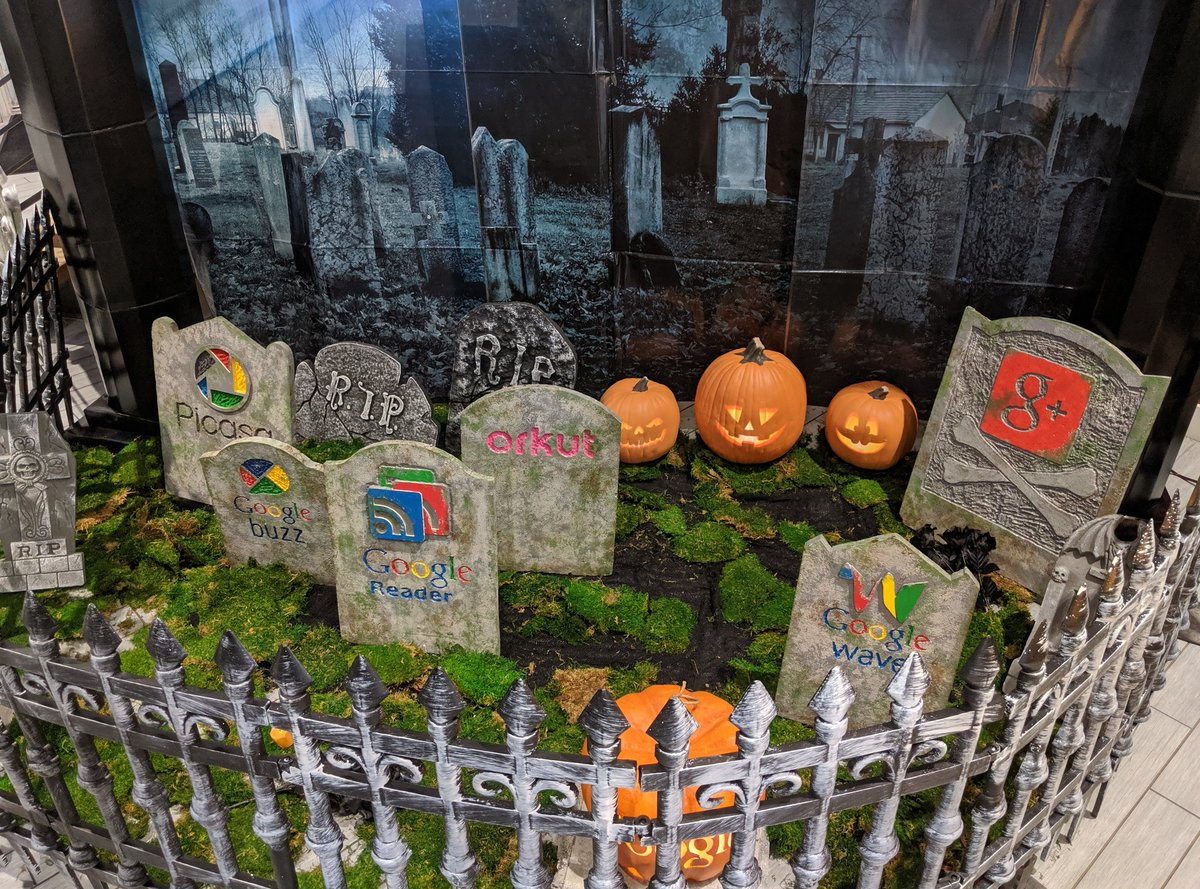Google celebrates Halloween with a cemetery for its dead products