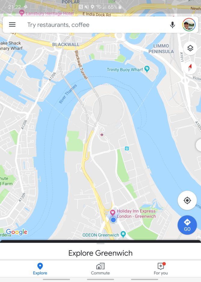 Google Maps on the Fold