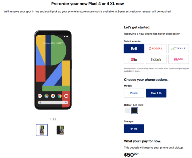 Pixel 4 pre-orders go live early at Best Buy Canada - Android Police 3