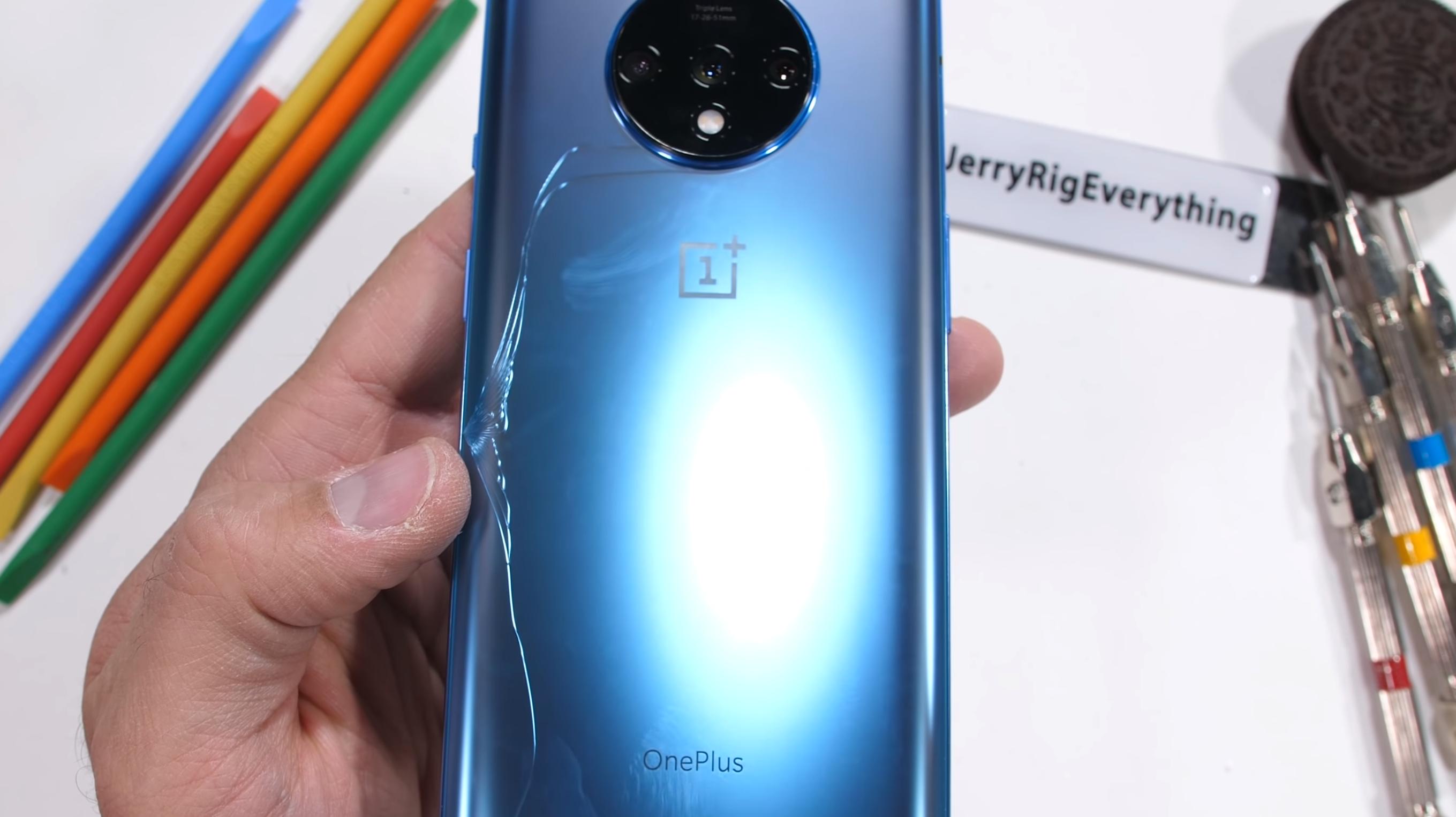 OnePlus 7T cracks under the pressure of JerryRigEverything's durability test