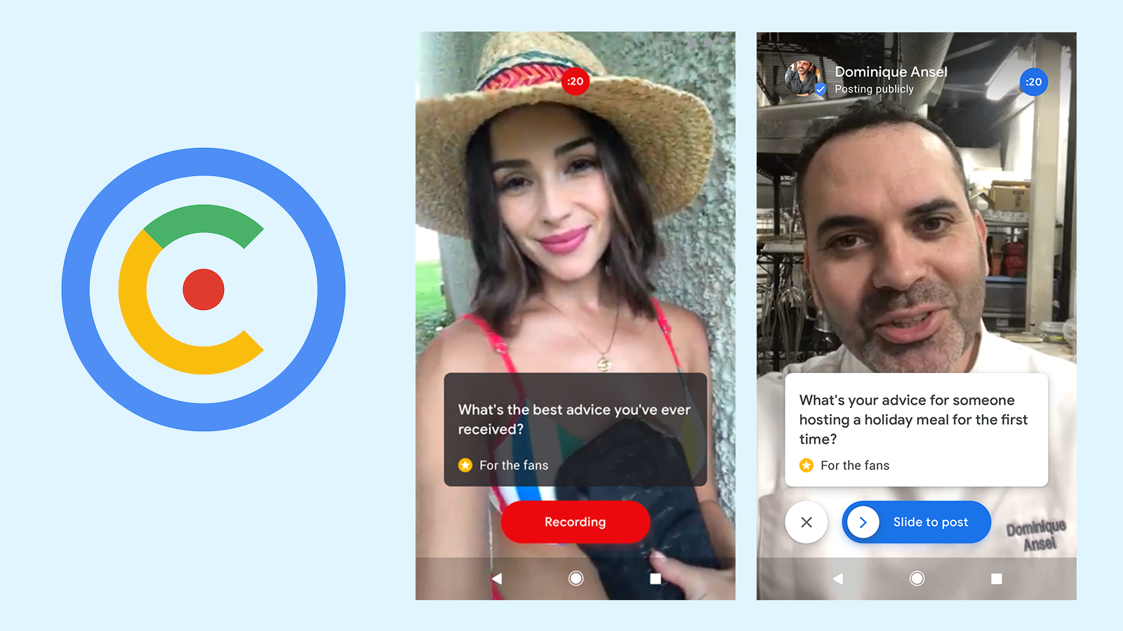 Google launches Cameos app to give celebrities a new way to respond to fans