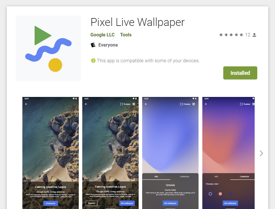 Pixel Live Wallpaper App Arrives On Play Store