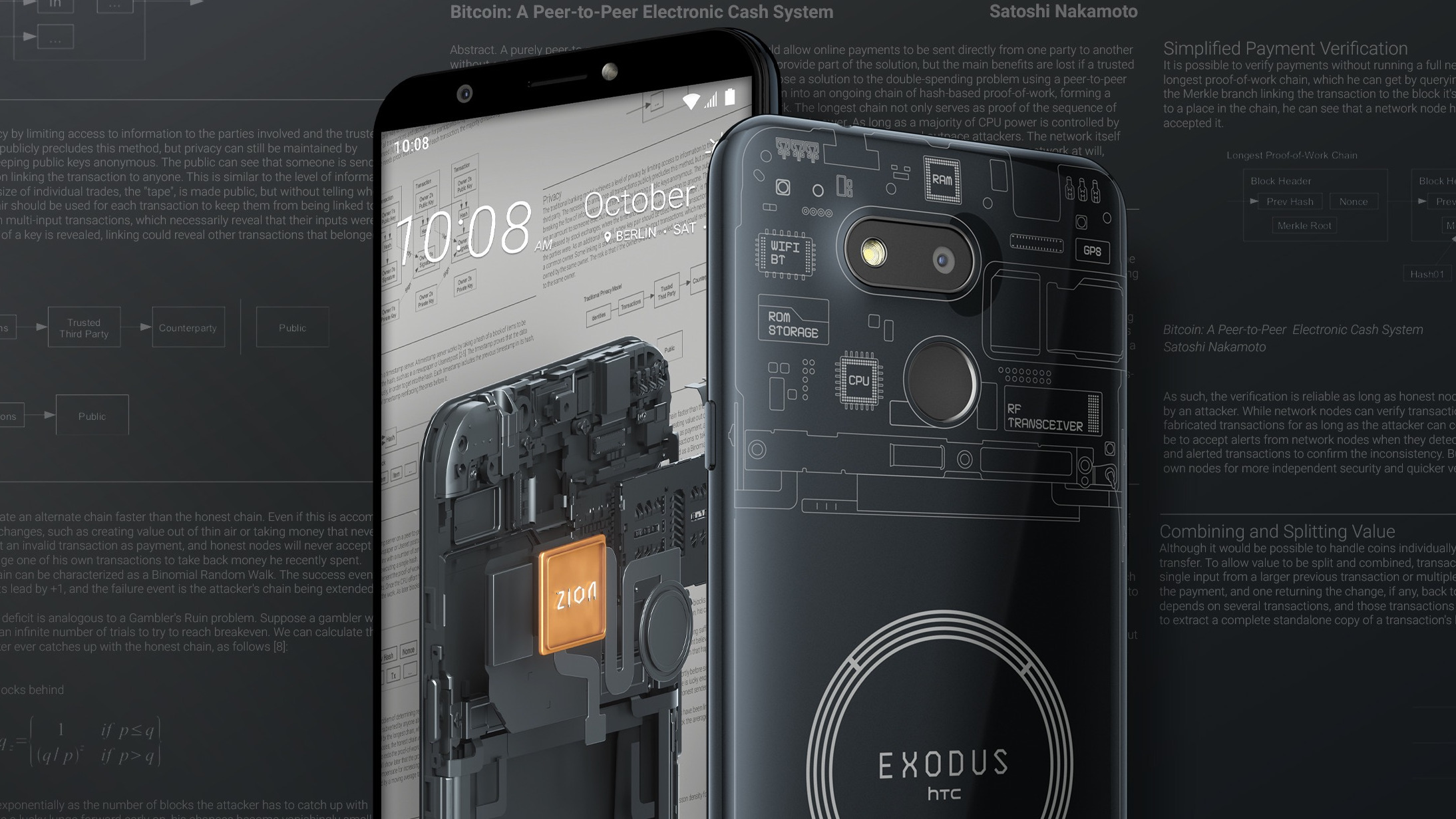 HTC reveals €219 Exodus 1s cryptocurrency phone with... Android Oreo