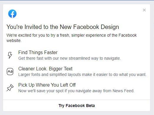 部分用户率先用上了全新设计的网页版 Facebook 2