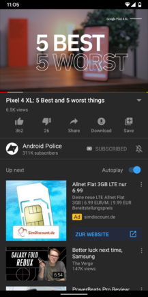 YouTube experiment puts comment section above 'Up next' recommendations, Next TGP