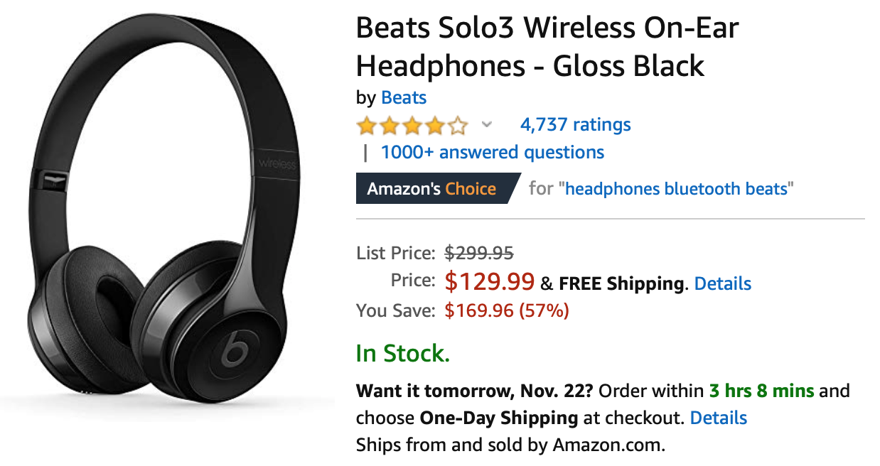Save Up To 57 On Beats Solo3 Wireless On Ear Headphones At Amazon And Best Buy