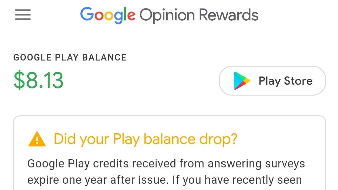 Google explains why your Opinion Rewards credits disappeared, will add expiration date notice
