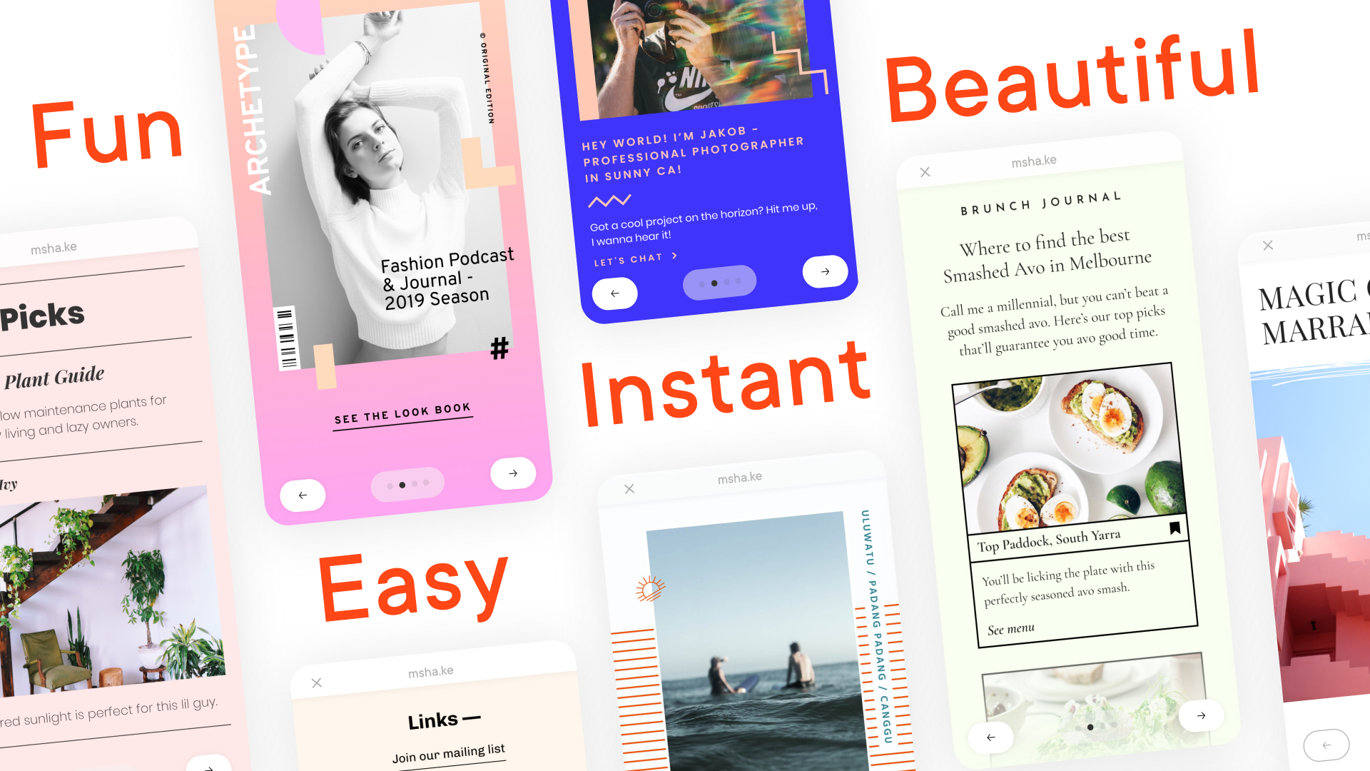 Envato releases Milkshake, an app to make vertical websites