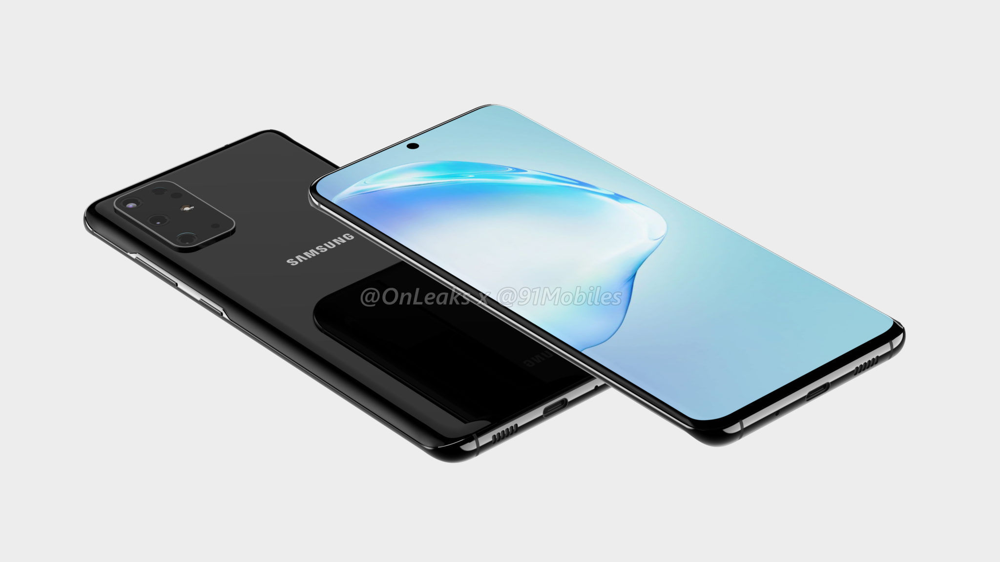 Galaxy S11 renders show a quintet of cameras, centered punch-hole display, and no headphone jack