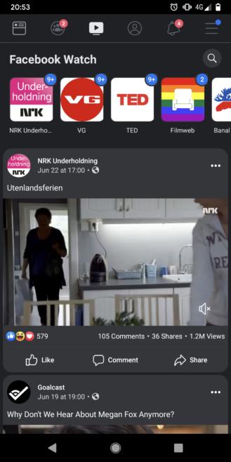 تطبيق فيسبوك يضع الوضع المظلم تحت الاختبار 2
