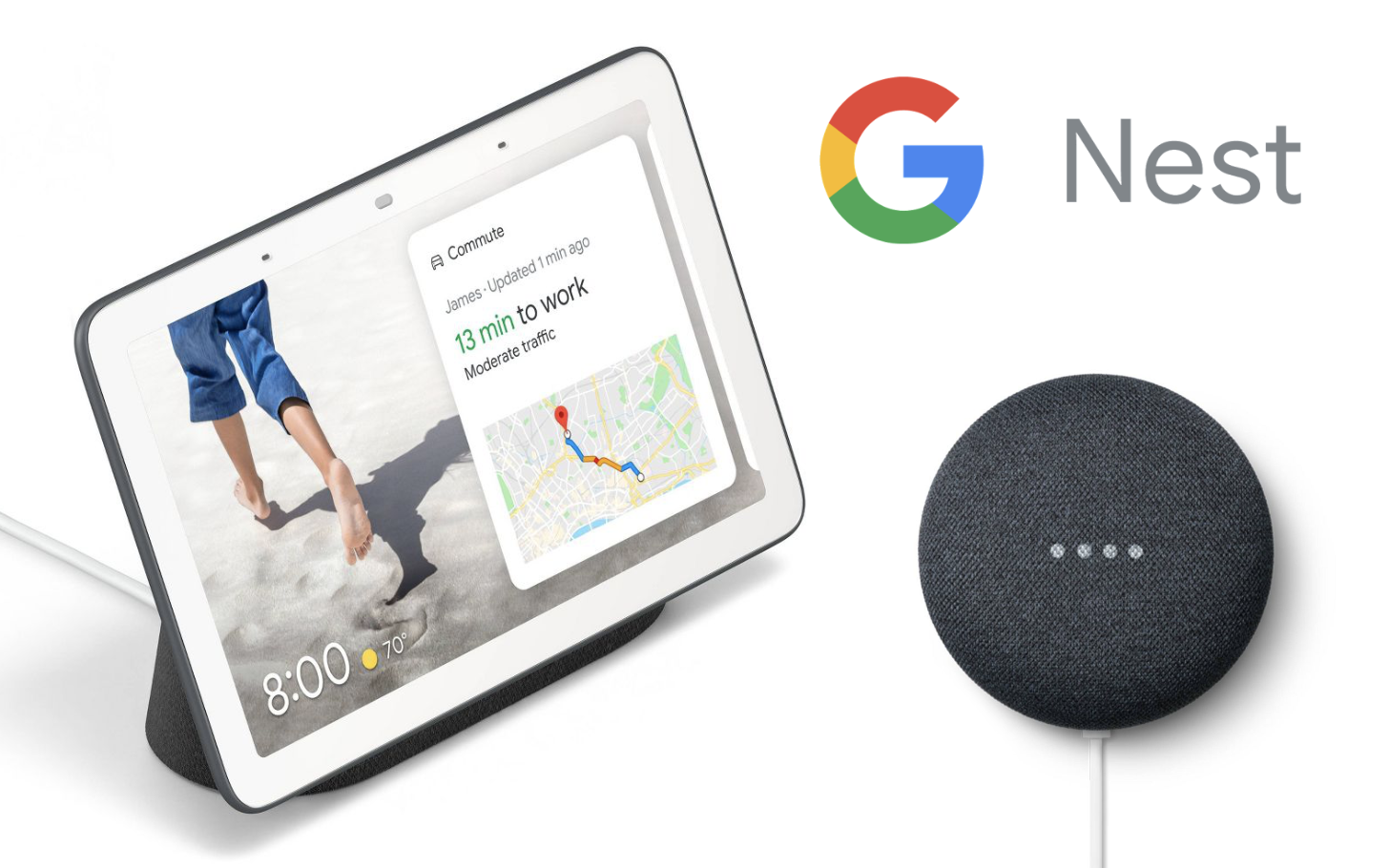 Get this Google Nest Hub and Nest Mini bundle ($79) for less than the price of a Hub itself