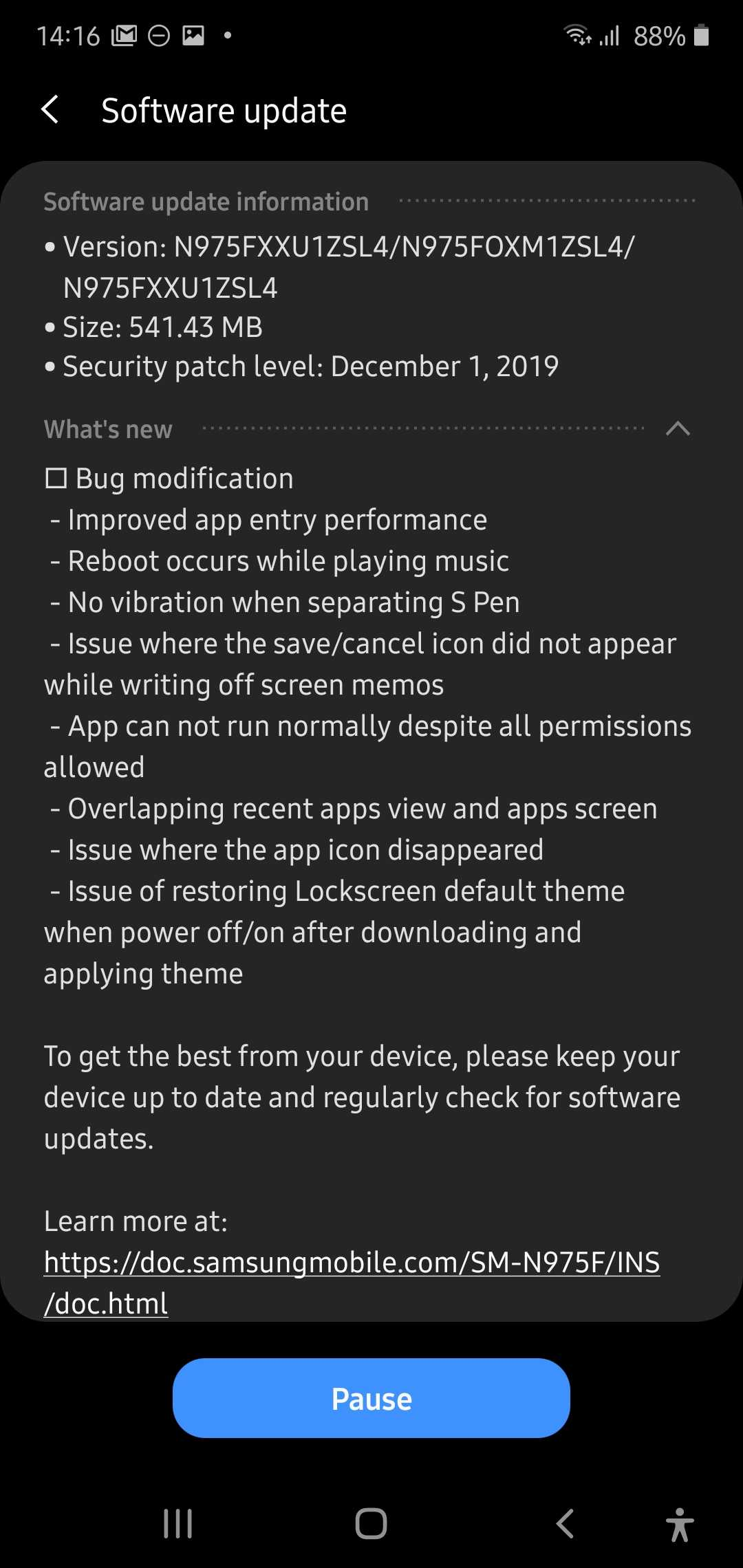 Galaxy Note10 gets its fourth Android 10 One UI 2 0 beta