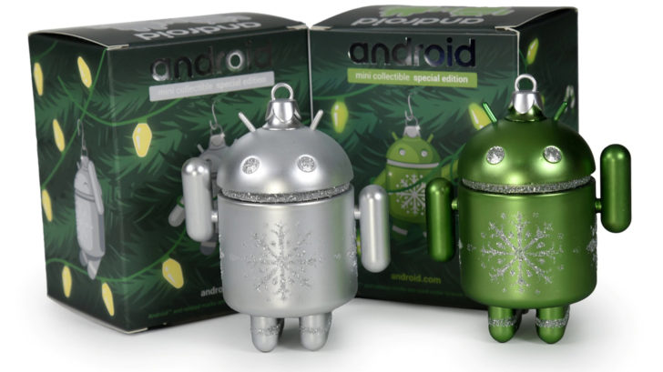 Android holiday ornaments from Dead Zebra are back, for a limited time (Update: Green sold out)