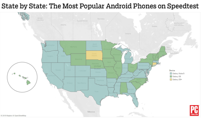 State-by-state Android popularity map suggests where you live may affect your phone choice