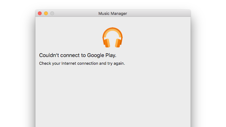 Google Play Music's desktop uploader 'Music Manager' is down for many users