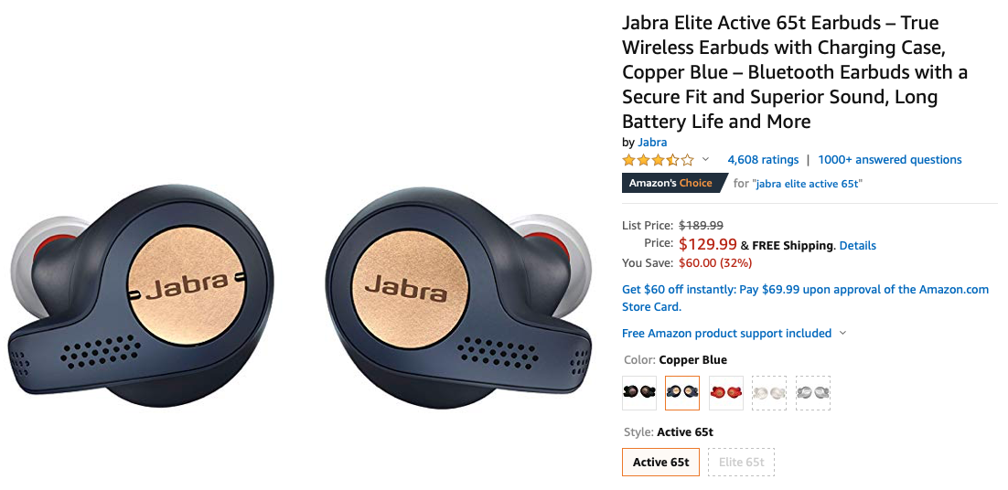 The Jabra Elite Active 65t Workout Earbuds Drop To 130 60 Off Msrp Update Down To 110