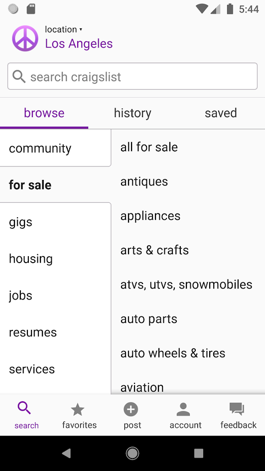 Craigslist now has an Android app, and it's already down to
