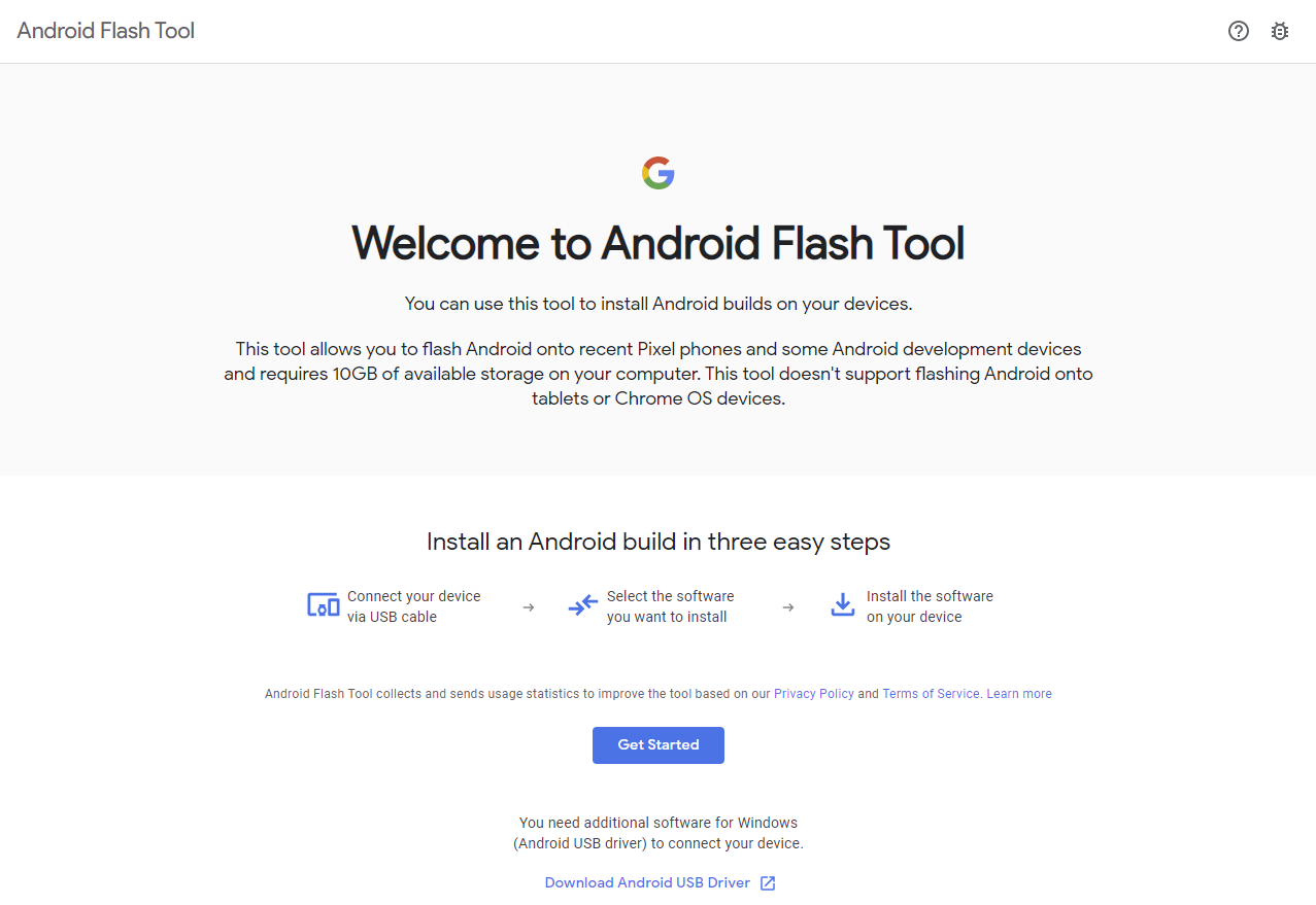 Android Flash Tool Lets You Install Android Using a Browser