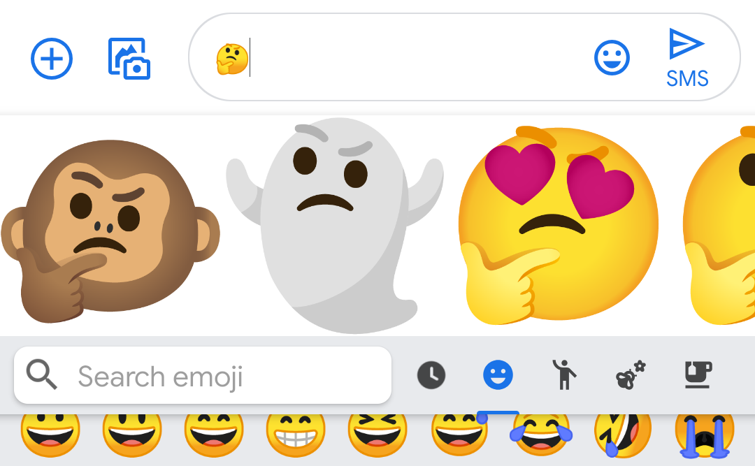 Gboard tests sticker suggestions mixed and matched from existing emoji