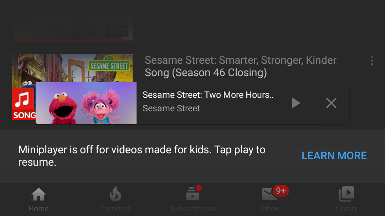Why Youtube Videos Made For Kids Won T Play In The Miniplayer A Summary Of Coppa
