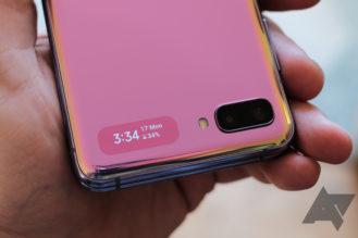 Galaxy Z Flip Cover Screen.