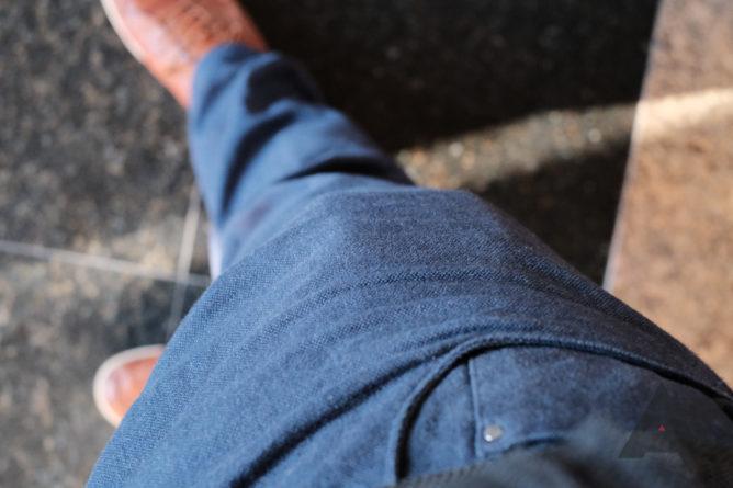 The Galaxy Z Flip in a pocket.