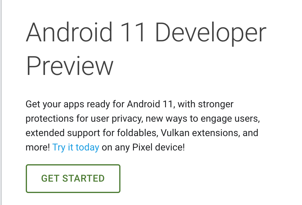 Google teases us with Android 11 Developer Preview as it begins prepping beta site