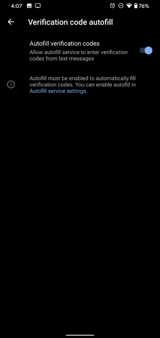تطبيق Google Messages يدعم الملء التلقائي لرموز التحقق