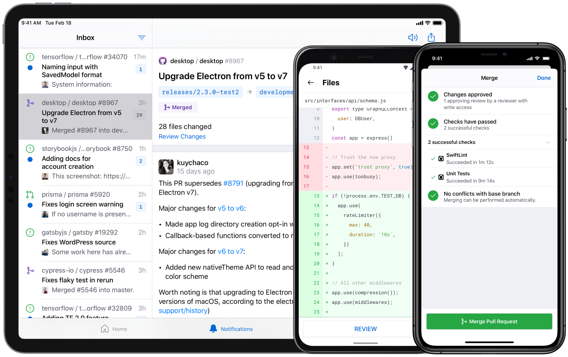 GitHub app now available on iOS and Android