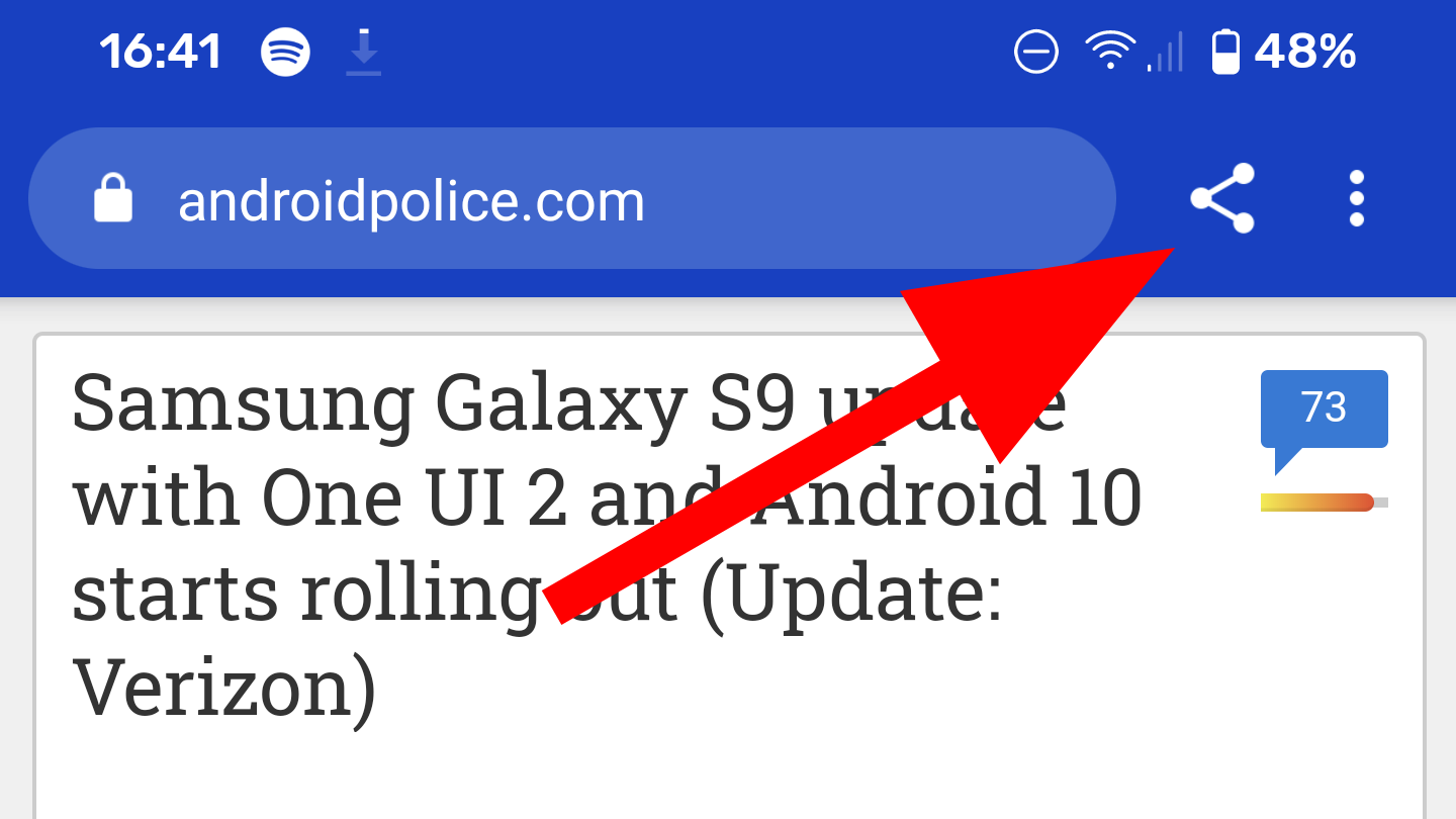 Chrome flag makes sharing web pages faster thanks to new toolbar button - Android Police