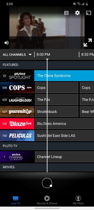 يحتوي هذا التطبيق على الكثير من العروض التلفزيونية والأفلام المباشرة المجانية على مدار 24 ساعة طوال أيام الأسبوع 2