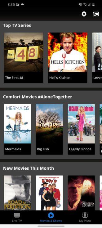 يحتوي هذا التطبيق على الكثير من العروض التلفزيونية والأفلام المباشرة المجانية على مدار 24 ساعة طوال أيام الأسبوع 3
