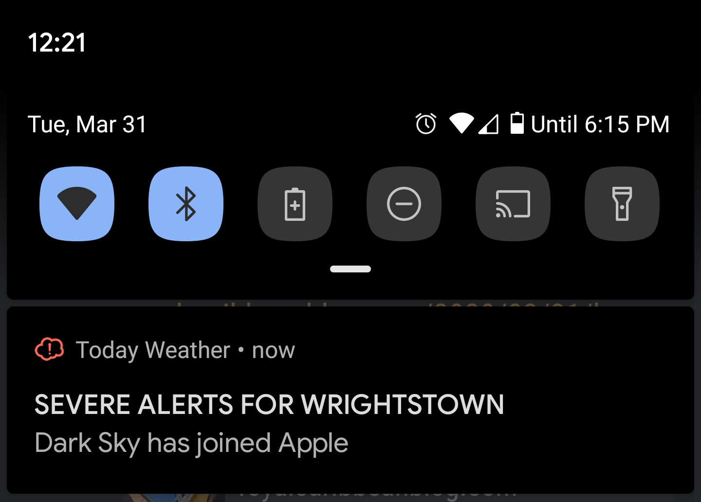 Apple Steals Popular Weather App From Android
