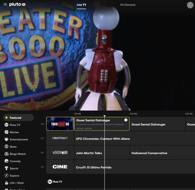 يحتوي هذا التطبيق على الكثير من العروض التلفزيونية والأفلام المباشرة المجانية على مدار 24 ساعة طوال أيام الأسبوع 4