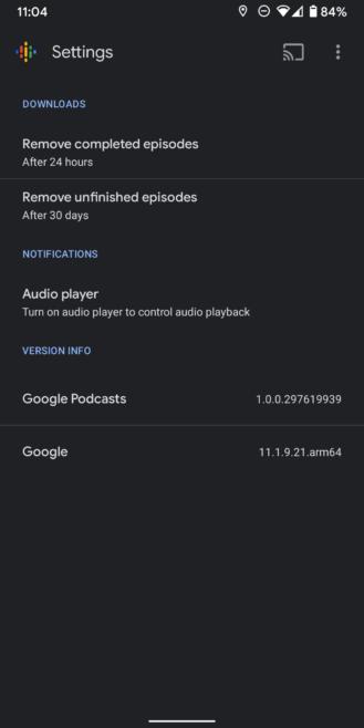 يحصل Google Podcasts قائمة انتظار google-podcasts-old-