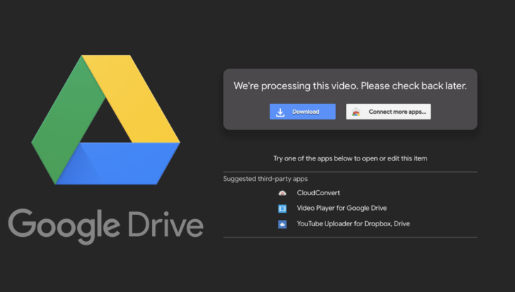 Spike in uploads to Google Drive is slowing down video processing
